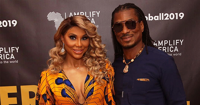 Tamar Braxton Is Gorgeous in Ankara Gown at the Afro Ball with Nigerian Boyfriend
