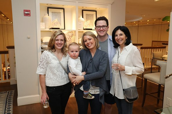 "Libby Leist, Dylan Dreyer, Brian Fichera and Deborah Kosofsky attend ""Siriously Delicious"" by Siri Daly book launch event at Williams Sonoma Columbus Circle on April 14, 2018, in New York City. 