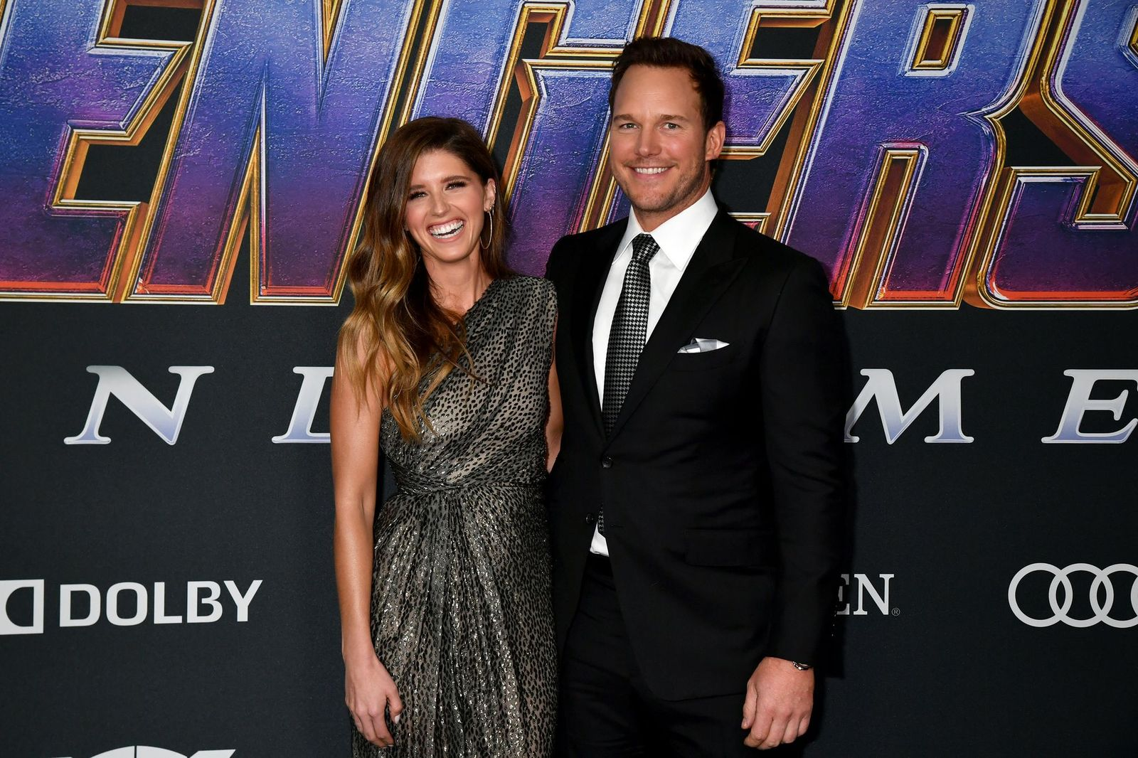 """Katherine Schwarzenegger and Chris Pratt at the World Premiere of Walt Disney Studios Motion Pictures """"Avengers: Endgame"""" at Los Angeles Convention Center on April 22, 2019 