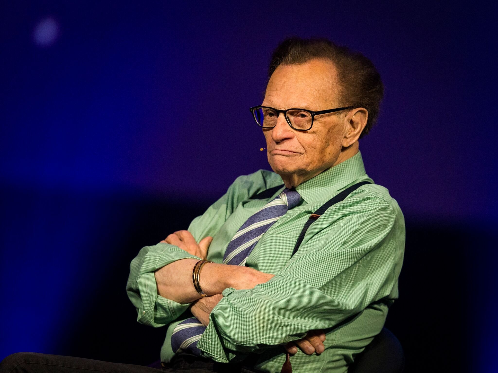 Larry King participates on a discussion on fake news in the media during the Starmus Festival  | Getty Images
