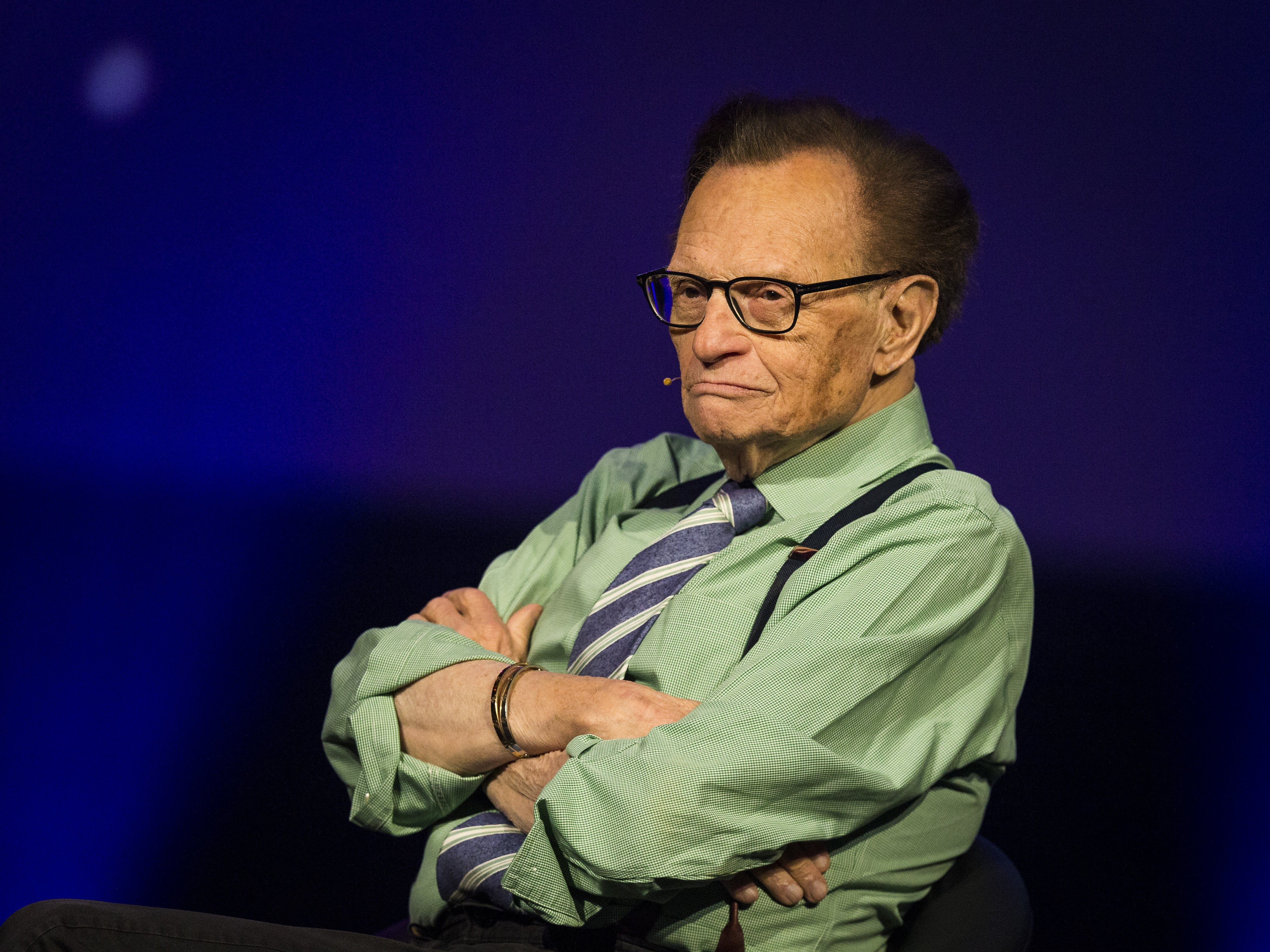 Larry King participates on a discussion on fake news in the media during the Starmus Festival on June 21, 2017, in Trondheim, Norway. | Source: Getty Images.
