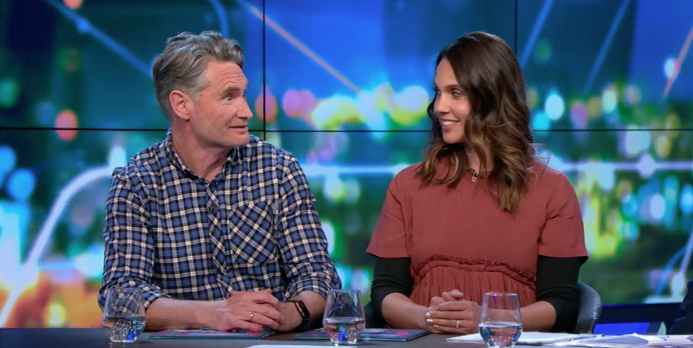 """Dave Hughes is interviewed on """"The Project."""" 