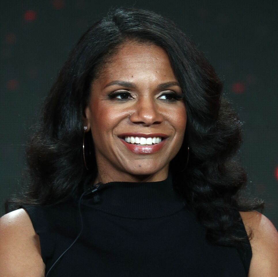 """Audra McDonald of the television show """"The Good Fight"""" speaks during the CBS segment of the 2019 Winter Television Critics Association Press Tour at The Langham Huntington, Pasadena on January 30, 2019 in Pasadena, California. 