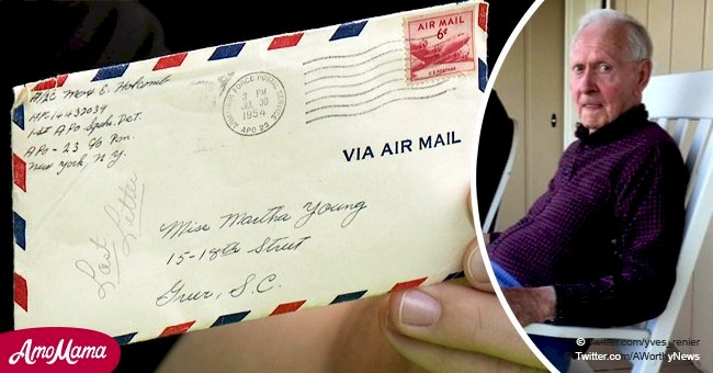 Walmart employees found a 4-page love letter on the floor written by a veteran in 1954
