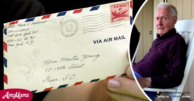 Les employés d'un supermarché ont découvert une lettre d'amour de 4 pages écrite par un vétéran en 1954