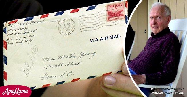 Ein Mitarbeiter von Walmart fand einen vierseitigen Brief auf dem Fußboden, der 1954 geschrieben wurde
