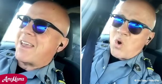 Police Officer Shows Off Remarkable Voice Singing Lionel Richie Classic