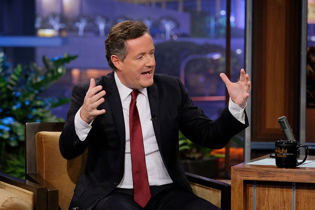 """Piers Morgan at """"The Tonight Show with Jay Leno"""" - Season 20 on March 29, 2012   Photo: Getty Images"""