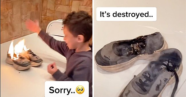 Cousin Burns Boy's Shoes Right before His Eyes on His Birthday in New Viral Video