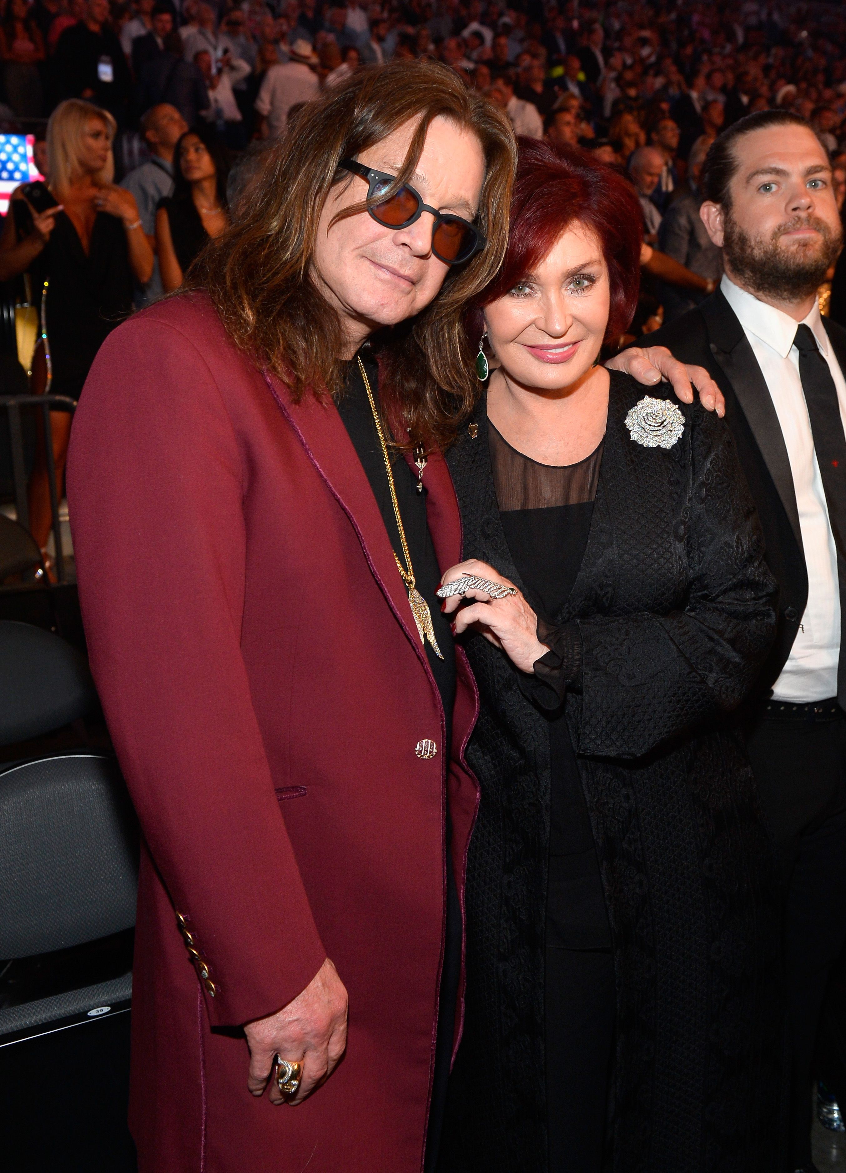 Singer Ozzy Osbourne and Sharon Osbourne at the Showtime, WME IME and Mayweather Promotions VIP Pre-Fight party for Mayweather vs. McGregor at T-Mobile Arena on August 26, 2017 | Photo: Getty Images