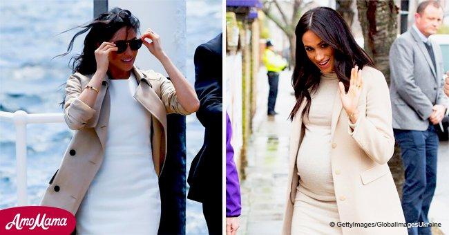 """Internet estalla con opiniones de que Meghan Markle está """"fingiendo"""" su embarazo"""