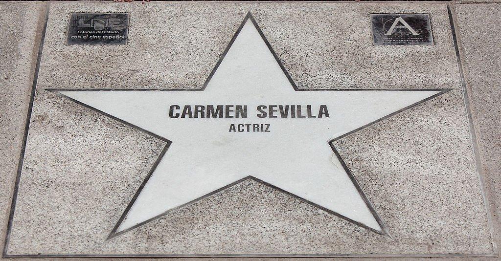 Estrella de Carmen Sevilla en el Paseo de la Fama.| Fuente: Getty Images
