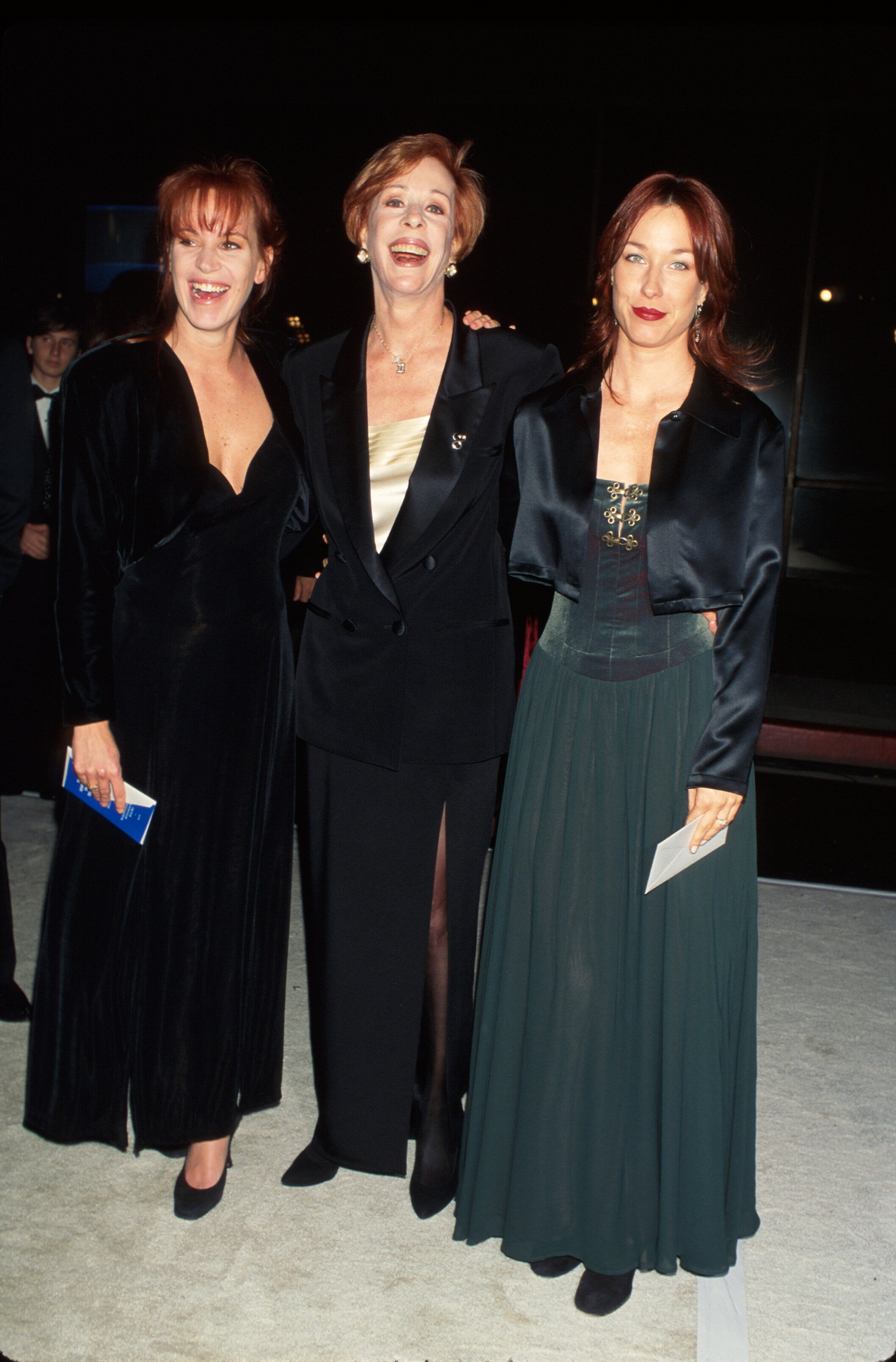 "A photo of Carol Burnett (C) w. daughters Erin (L) and Jody Hamilton (R) from "" The LIFE Picture Collection"" created on January 01, 1996. 