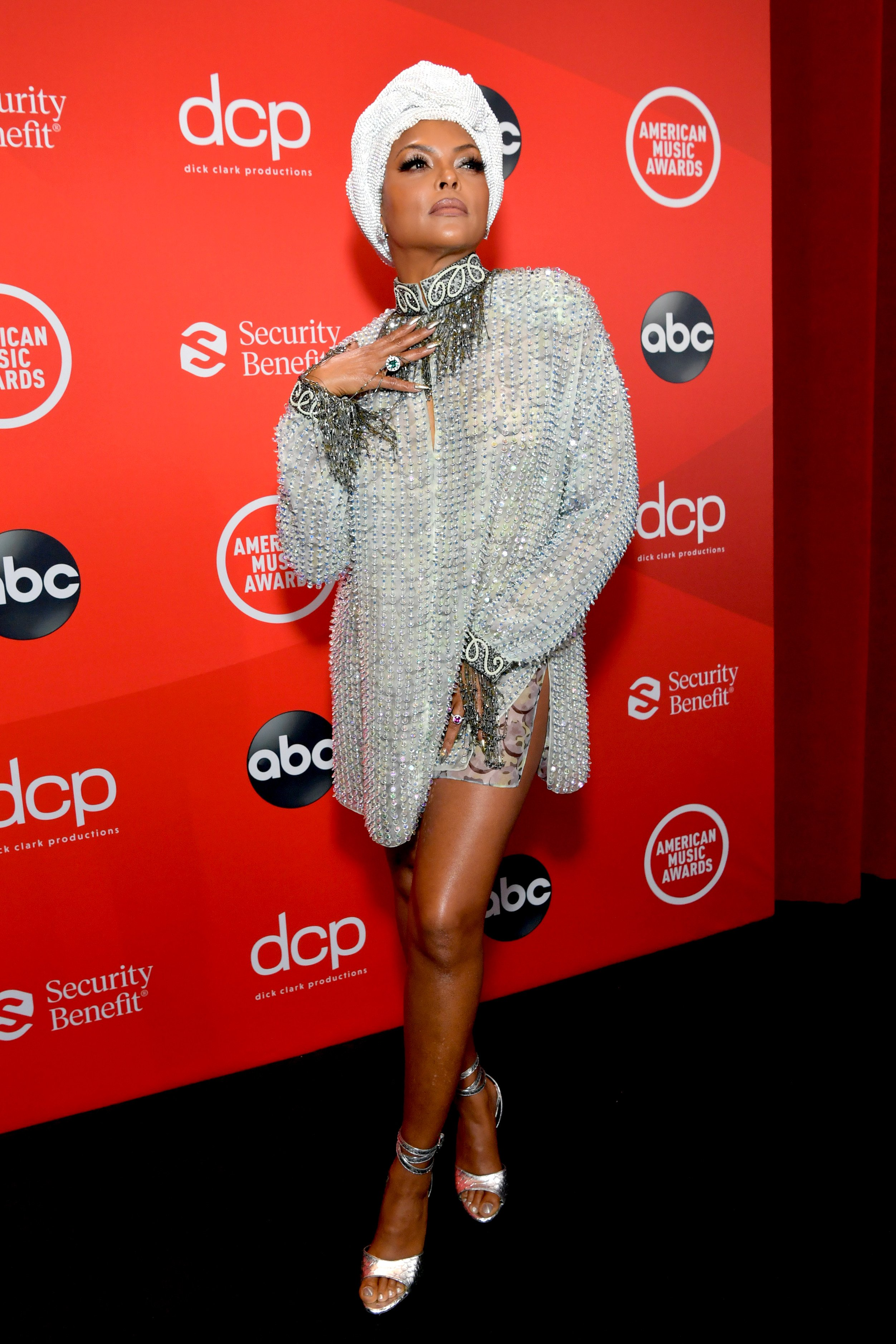 Taraji P. Henson at the 2020 American Music Awards in Los Angeles, California | Source: Getty Images