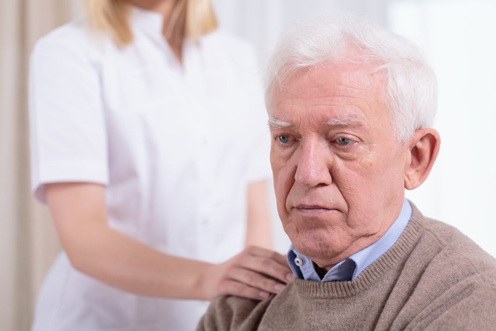 Sad elderly man living in a nursing home. | Photo: Shutterstock