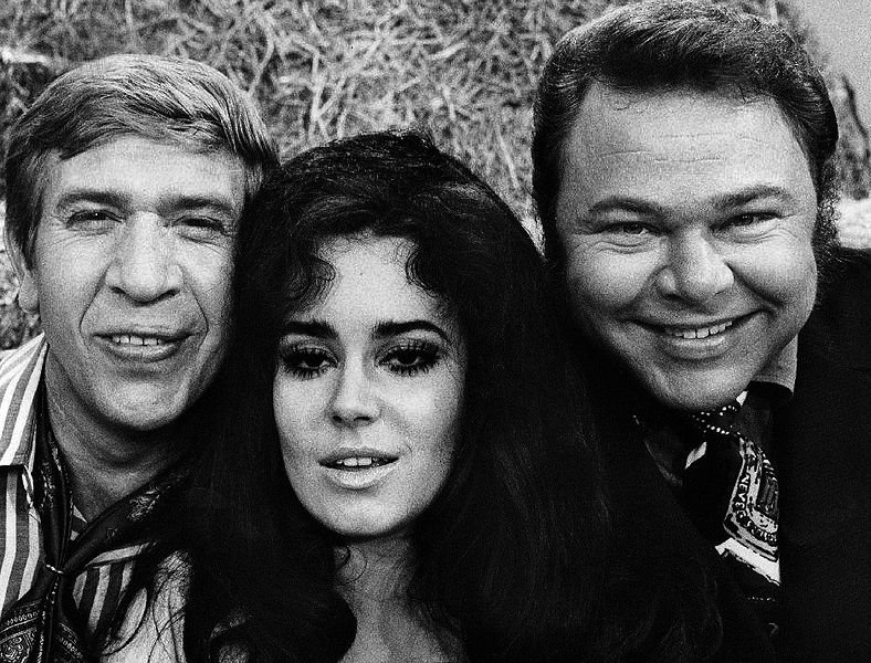 "Buck Owens, Lisa Todd and Roy Clark from the television program ""Hee Haw."" 