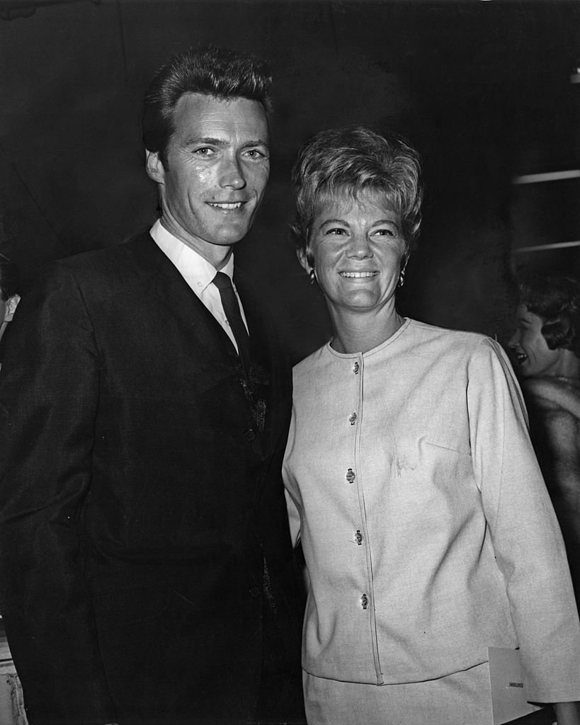 Clint Eastwood with his first wife Maggie Johnson at the opening night of an 'Ice Capades' skating show on January 01, 1960 | Photo: Getty Images