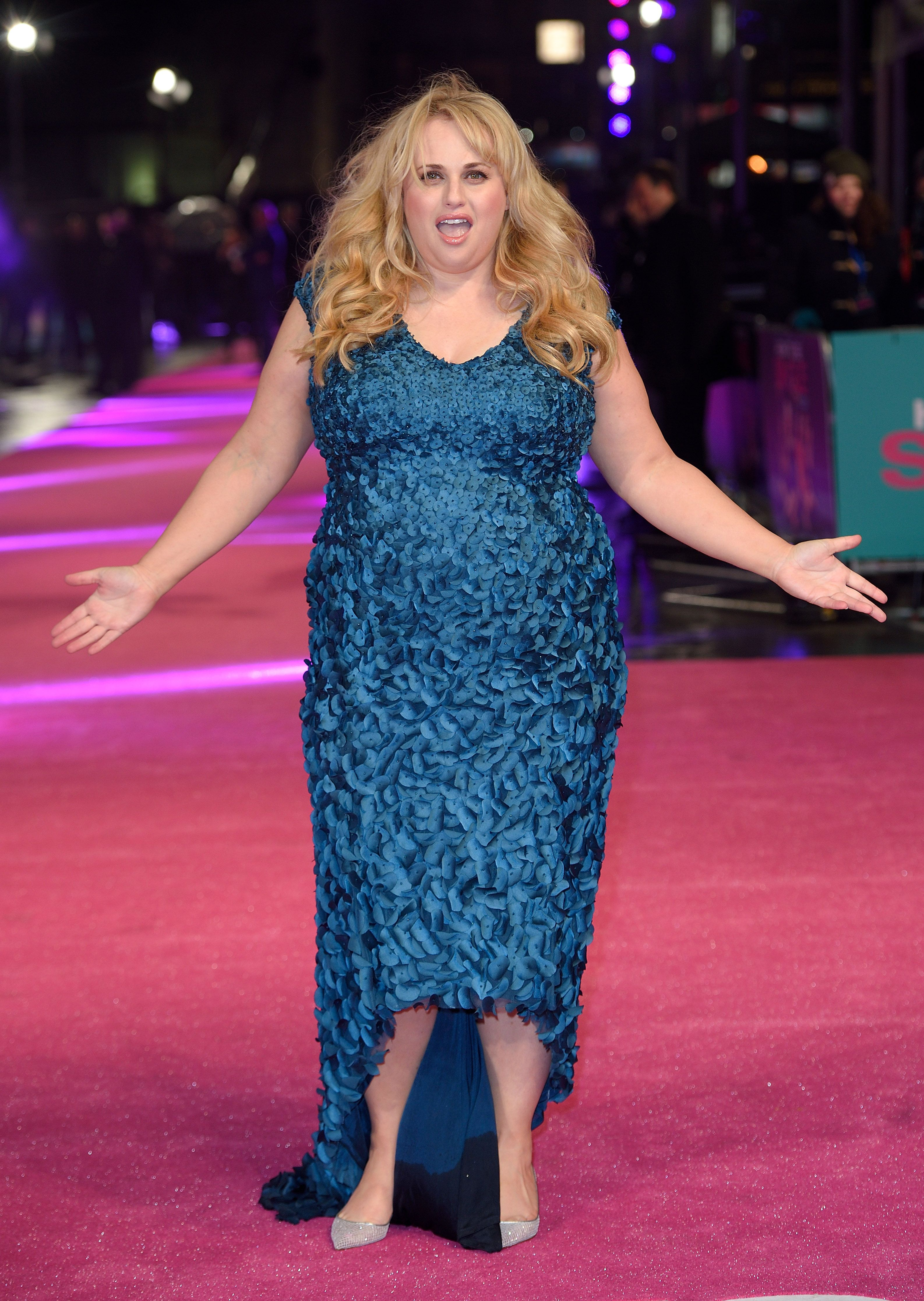 """Rebel Wilson atthe European Premiere of """"How To Be Single""""at the Vue West End on February 9, 2016, in London, United Kingdom   Photo:Karwai Tang/WireImage/Getty Images"""