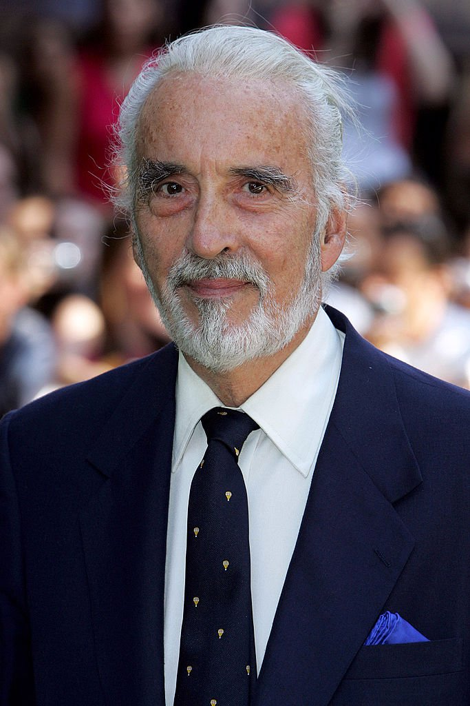 """Late Christopher Lee during """"Charlie and the Chocolate Factory"""" London Premiere at Odeon Leicester Square in London, United Kingdom on July 17, 2005 