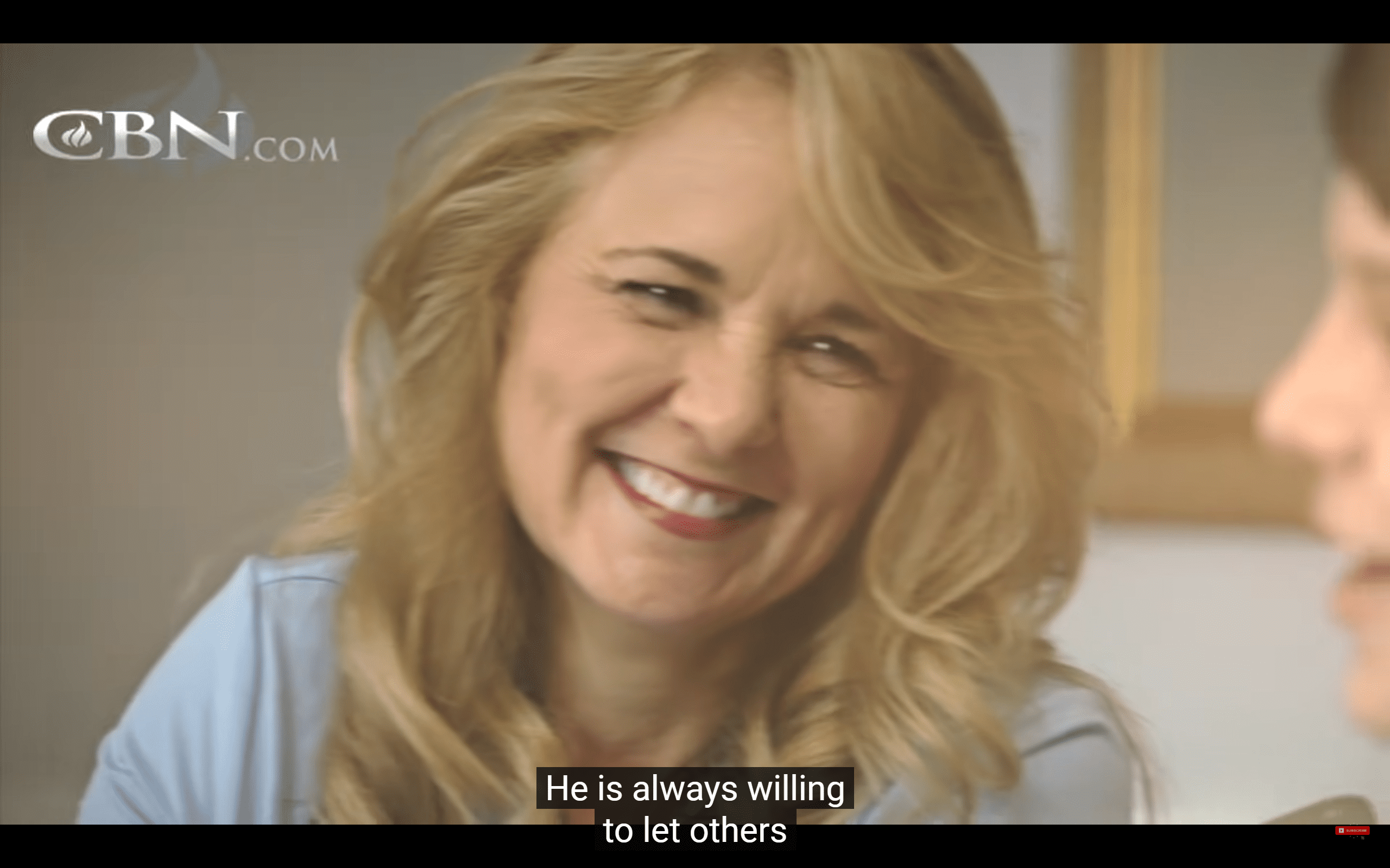 Julie who lost her husband in a fatal accident. | Photo: YouTube/ The 700 Club