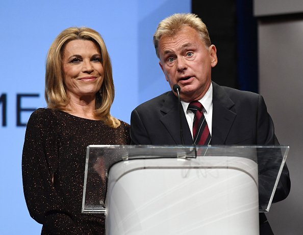 Vanna White and Pat Sajak at Encore Las Vegas on April 9, 2018 in Las Vegas, Nevada.   Photo: Getty Images