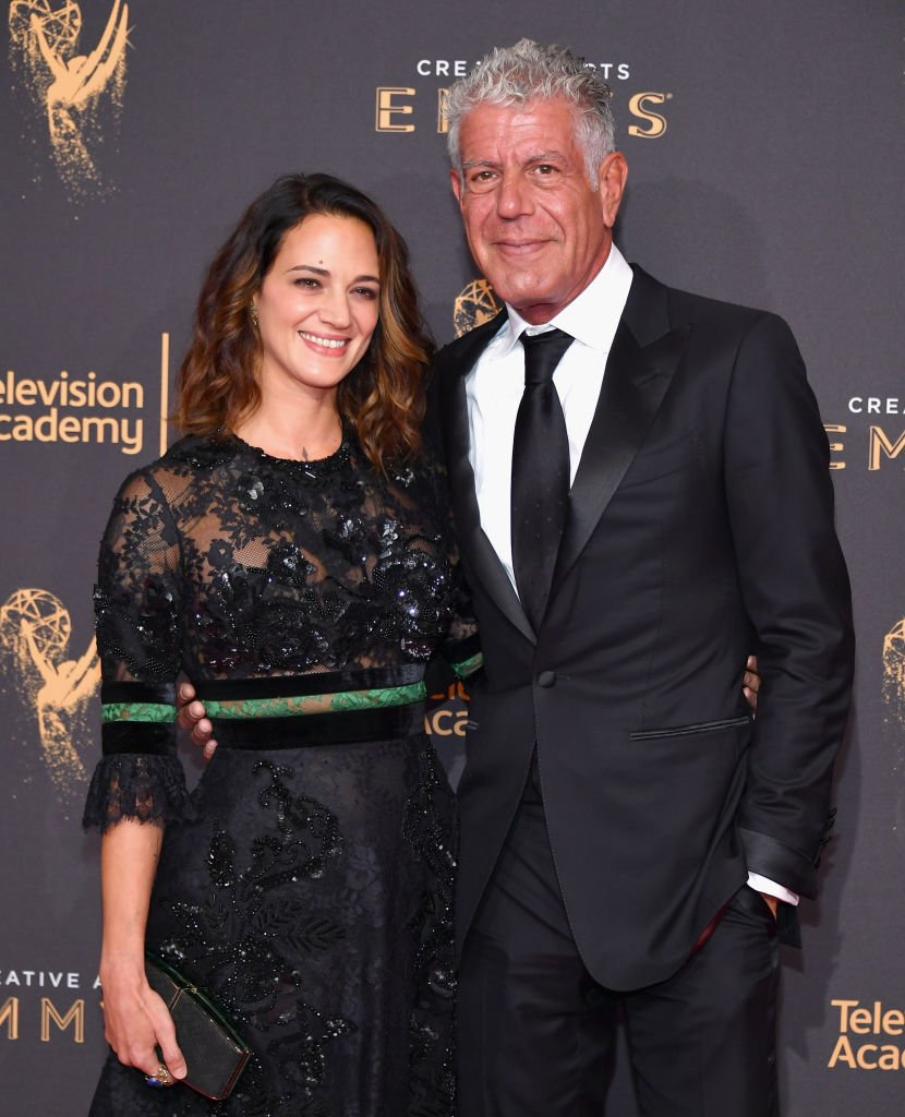 Asia Argento et Anthony Bourdain. l Source: Getty Images