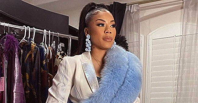 Keyshia Cole Looks Beautiful with a High Ponytail as She Poses in an Awesome Suit (Photos)