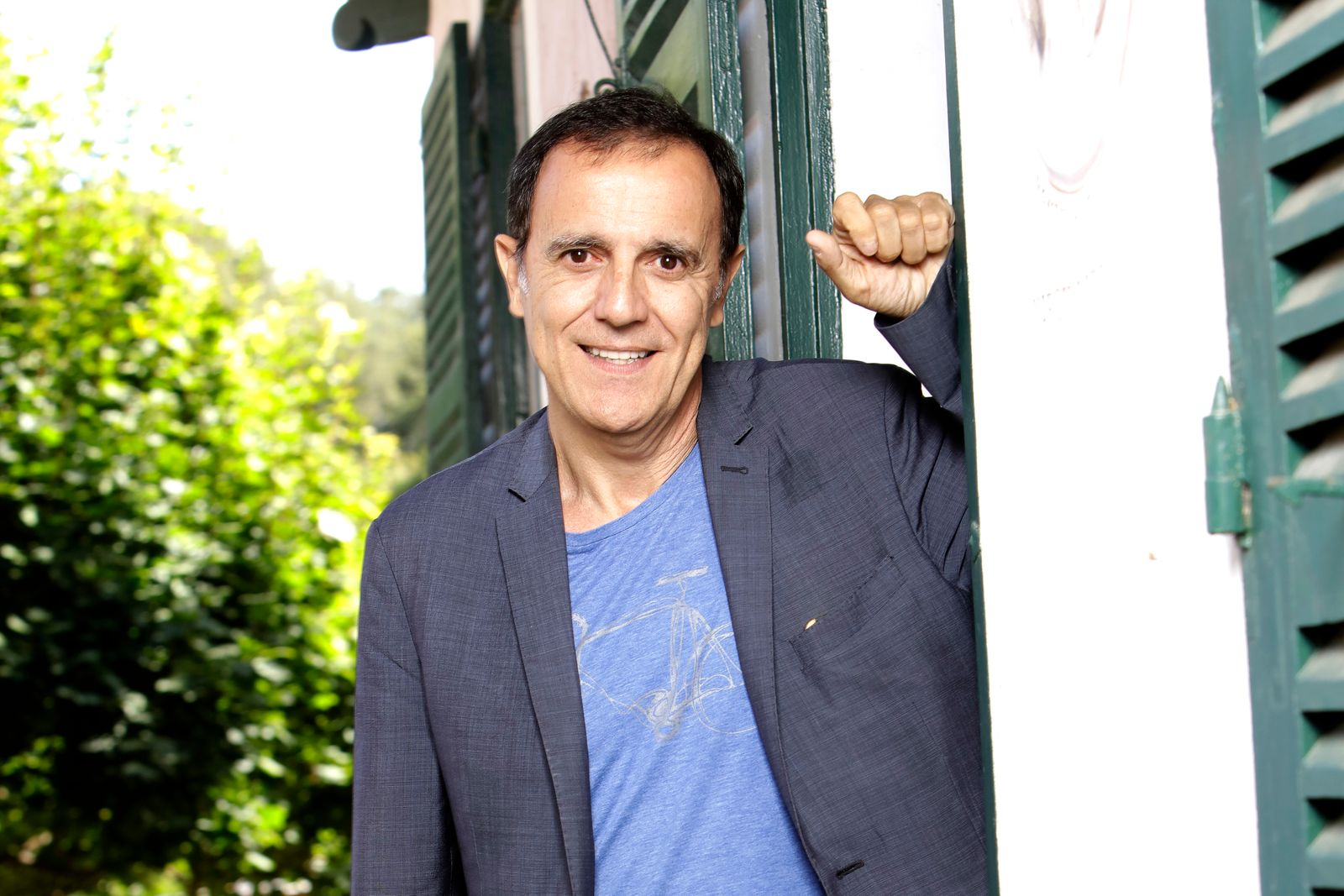 Le présentateur Thierry Beccaro | Photo : Getty Images.