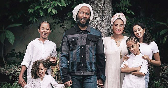 Ziggy Marley Is All Smiles Posing in Lovely Family Photo with His Wife & Their Look-Alike Kids