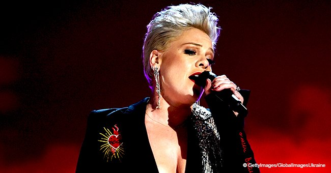 P!nk amazes audience with a powerful rendition of Dolly Parton's 1973 hit 'Jolene'