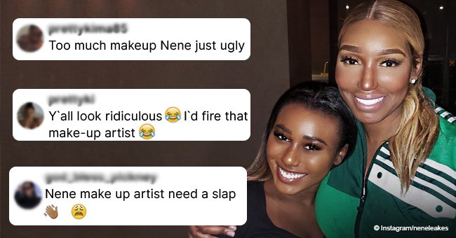 Followers slam NeNe Leakes for her makeup choices after recent photo with Cynthia Bailey's daughter