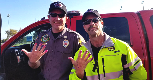 Utah Firefighters Calm down Young Girl Involved in Car Crash by Allowing Her to Paint Their Nails