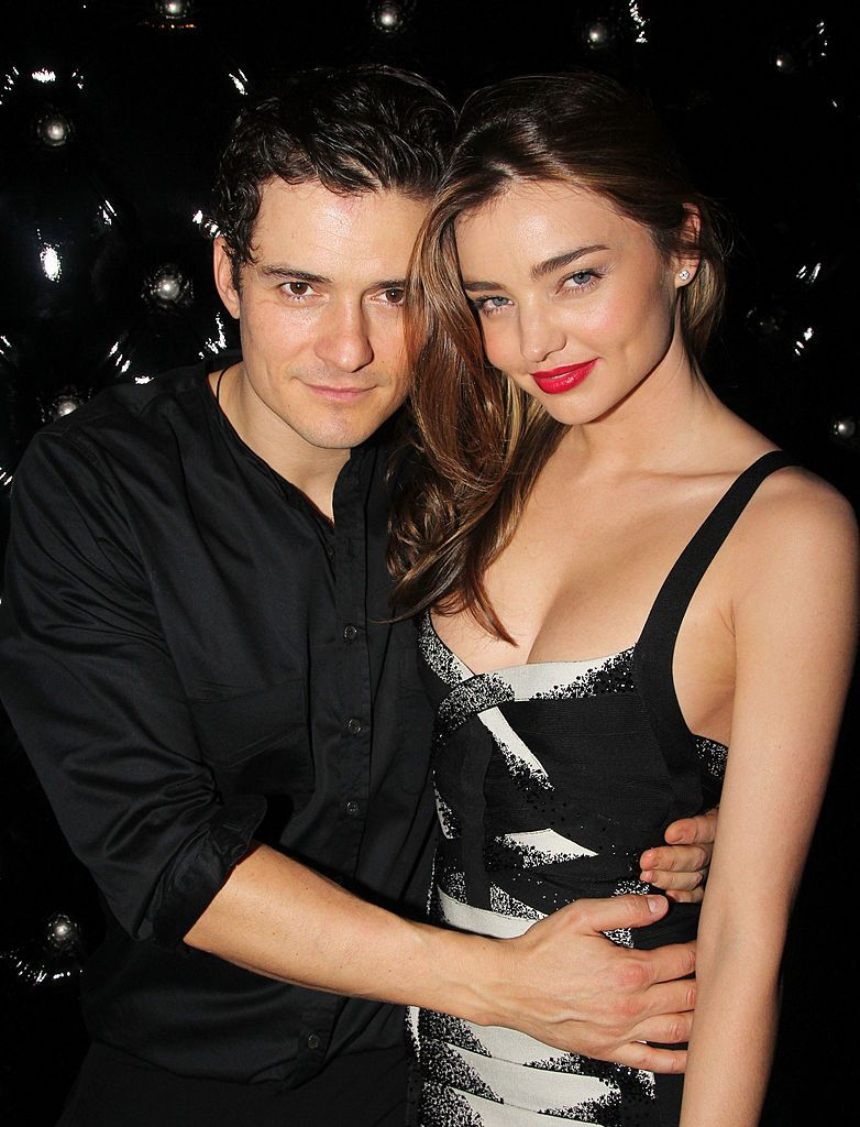 """Orlando Bloom and Miranda Kerr during the after party for the Broadway opening night of """"Shakespeare's Romeo And Juliet"""" at The Edison Ballroom on September 19, 2013 in New York City. 