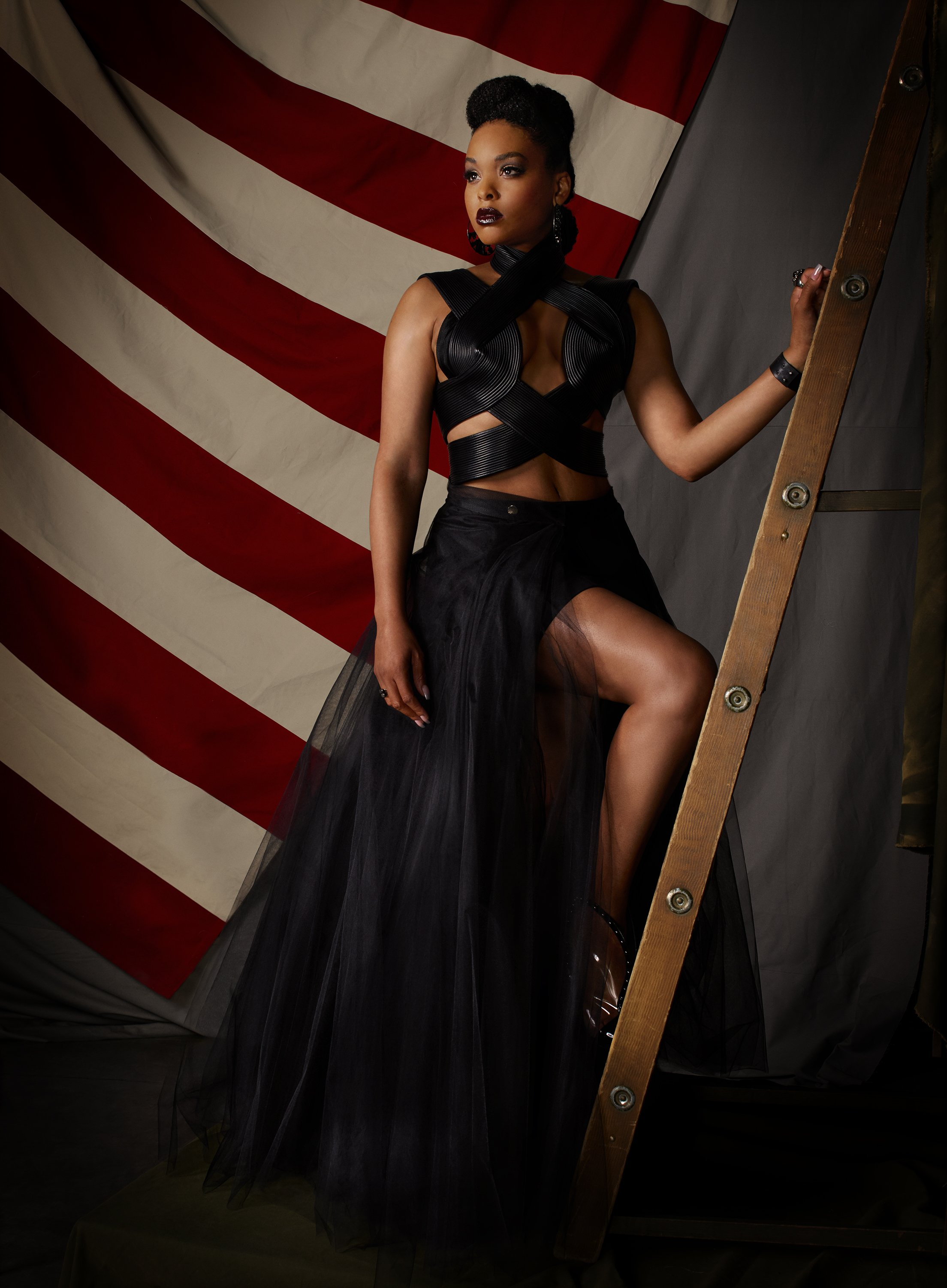 """Promotional poster for Freeform's """"Motherland: Fort Salem"""" starring Demetria McKinney as Anacostia.  Source: Getty Images"""