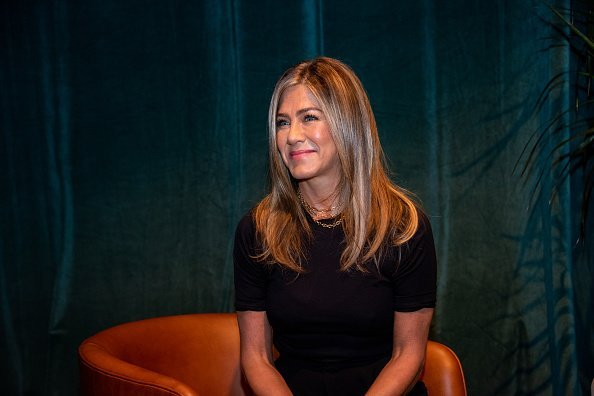 """Jennifer Aniston at """"The Morning Show"""" Press Conference at the Wallis Annenberg Center for the Performing Arts 