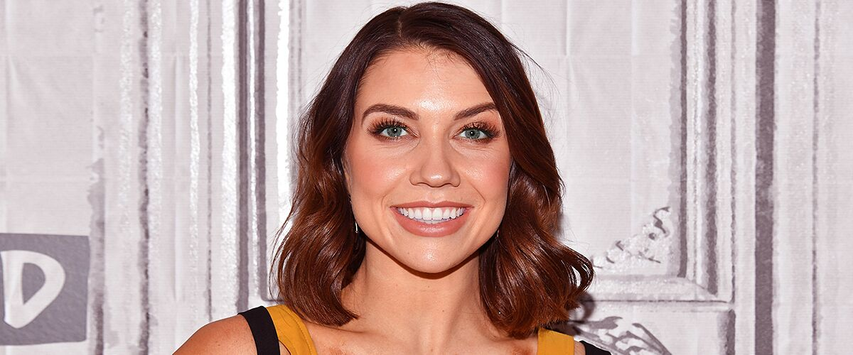 'DWTS' Jenna Johnson Puts Her Legs on Full Display in Gorgeous Red Dress with a Cleavage