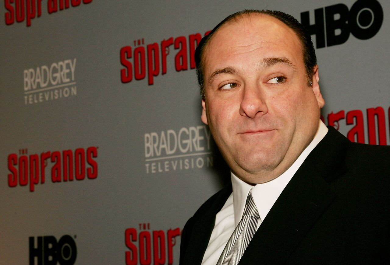 "James Gandolfini attends the sixth premiere of ""The Sopranos."" Source: Getty Images"