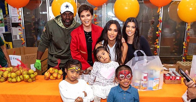Kris Jenner Joins Daughters Kourtney & Kim in Handing out Meals to Families in Need at the Los Angeles Regional Food Bank