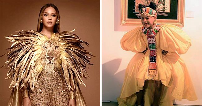 A Look at Beyoncé & Blue Ivy's 'Lion King'-Inspired Outfits for Wearable Art Gala