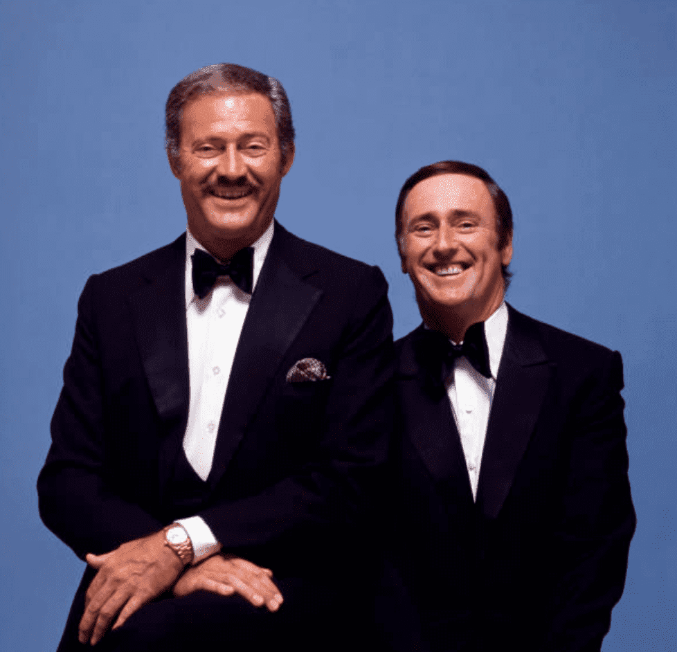 Dan Rowan and Dick Martin pose for a portrait circa in 1971 in Los Angeles, California. | Source: Getty Images
