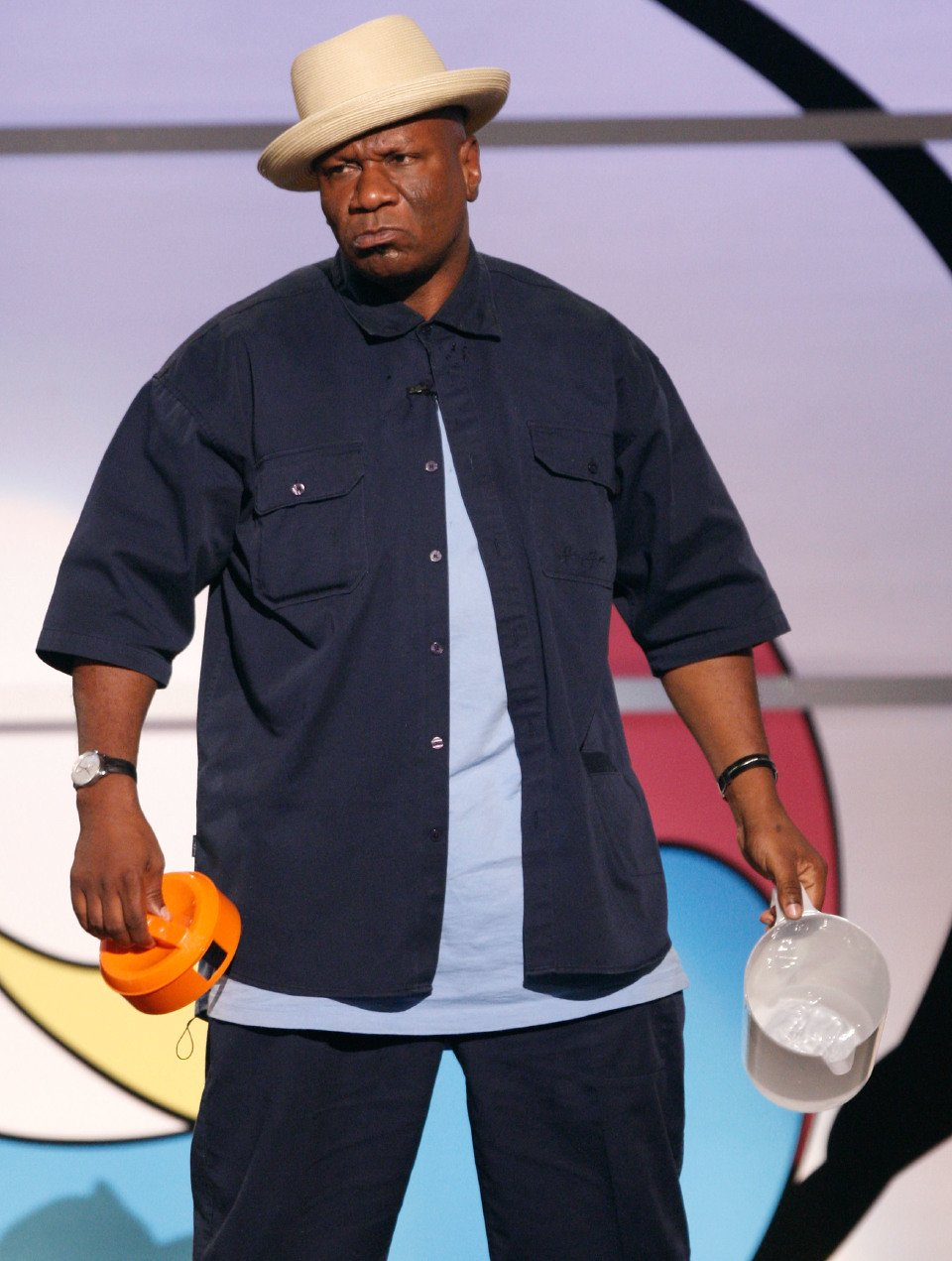 Ving Rhames performs a skit onstage during the 2009 BET Awards.   Source: Getty Images