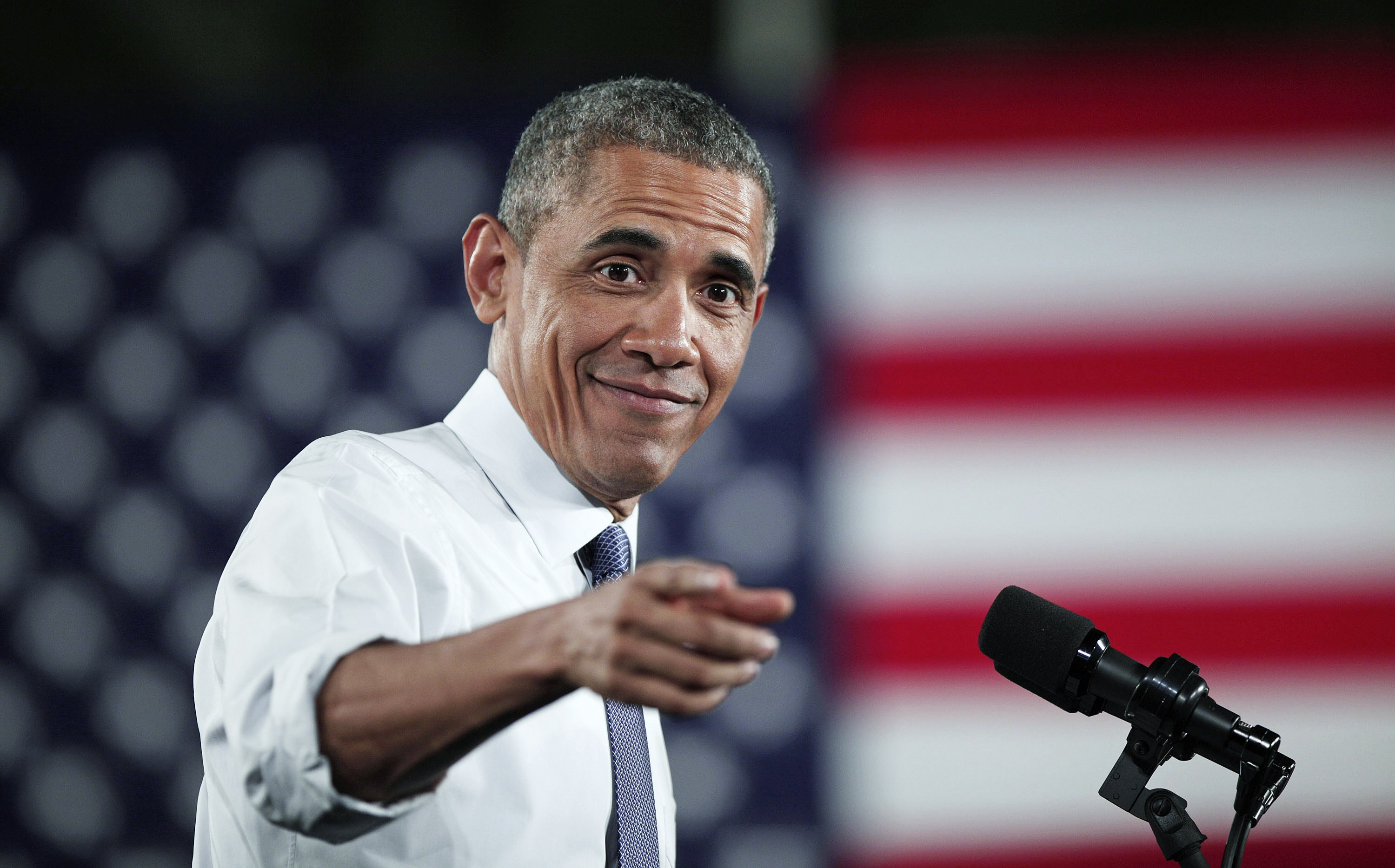 Barack Obama at the Ford Michigan Assembly Plant, 2015 in Wayne, Michigan | Source: Getty Images