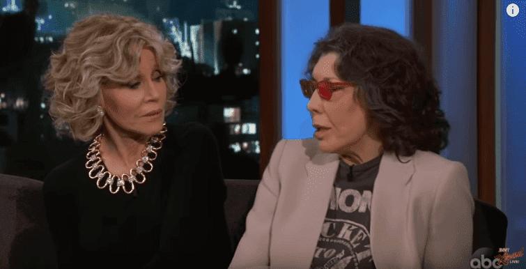 Jane Fonda and Lily Tomlin talking Politics on 'Jimmy Kimmel Live.' | Image: YouTube/Jimmy Kimmel Live