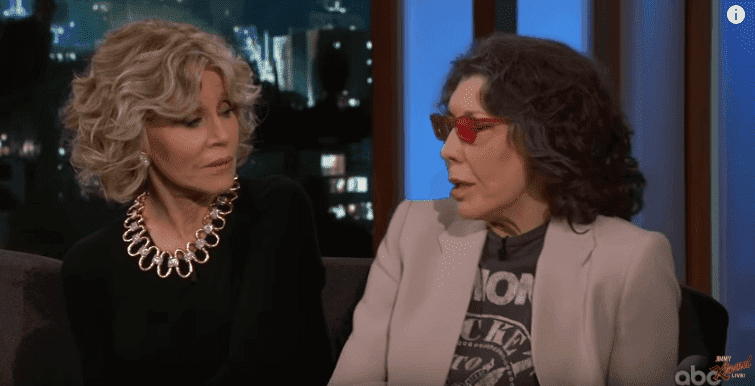 Jane Fonda and Lily Tomlin talking Politics on 'Jimmy Kimmel Live.' | Image: YouTube/Jimmy Kimmel Live