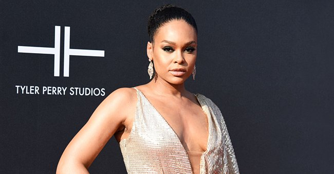 See 'House of Payne' Star Demetria McKinney with Her Long Legs on Display in a Purple Dress