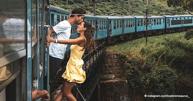 Couple Sparks Outrage as They Hang out of a Moving Train to Get the Perfect Photo for Instagram