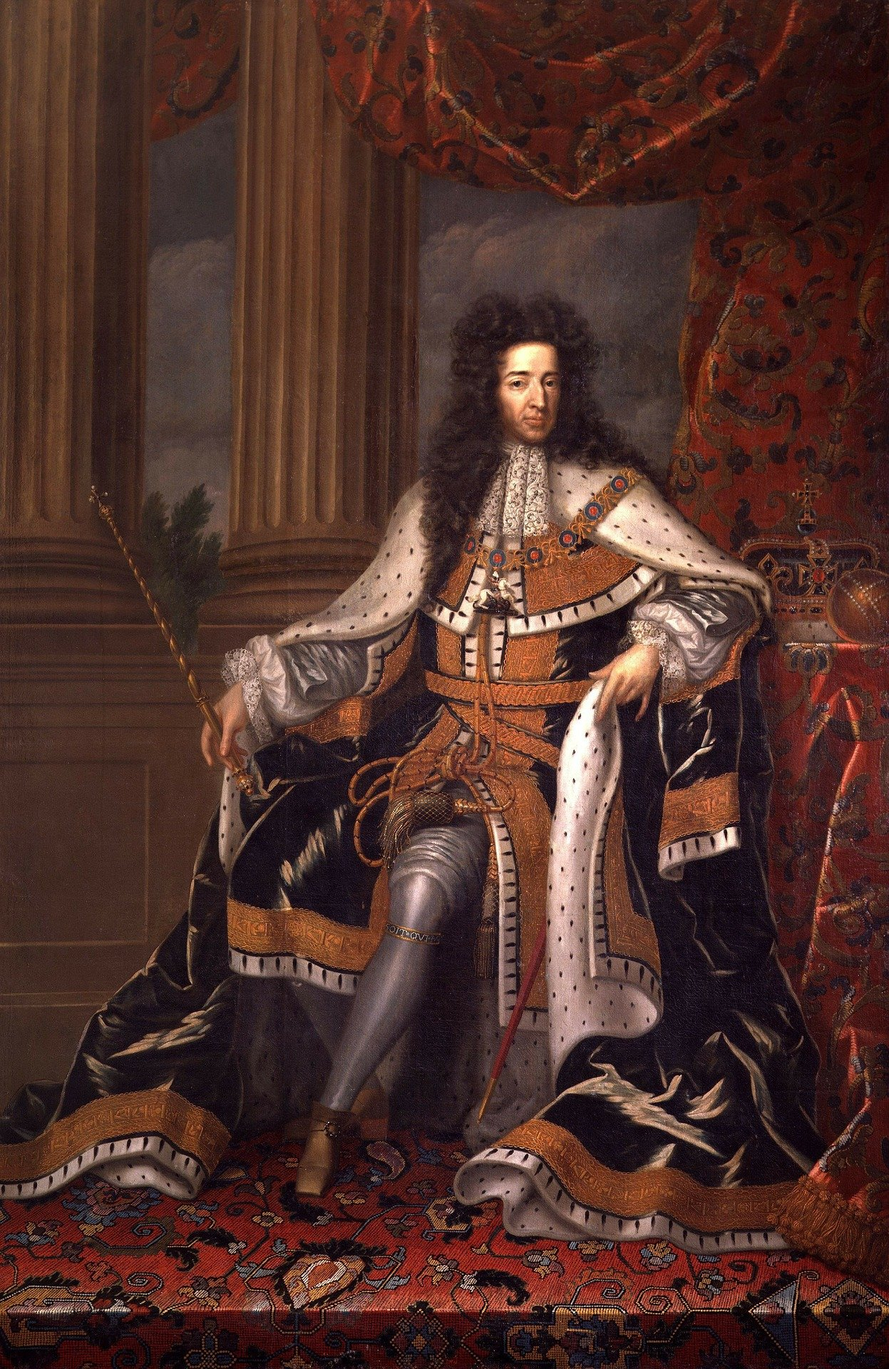 Pictured - A portrait of King William III in his robe | Source: Pexels