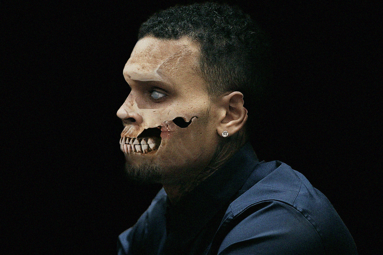 Chris Brown  as a zombie | Source: Getty Images
