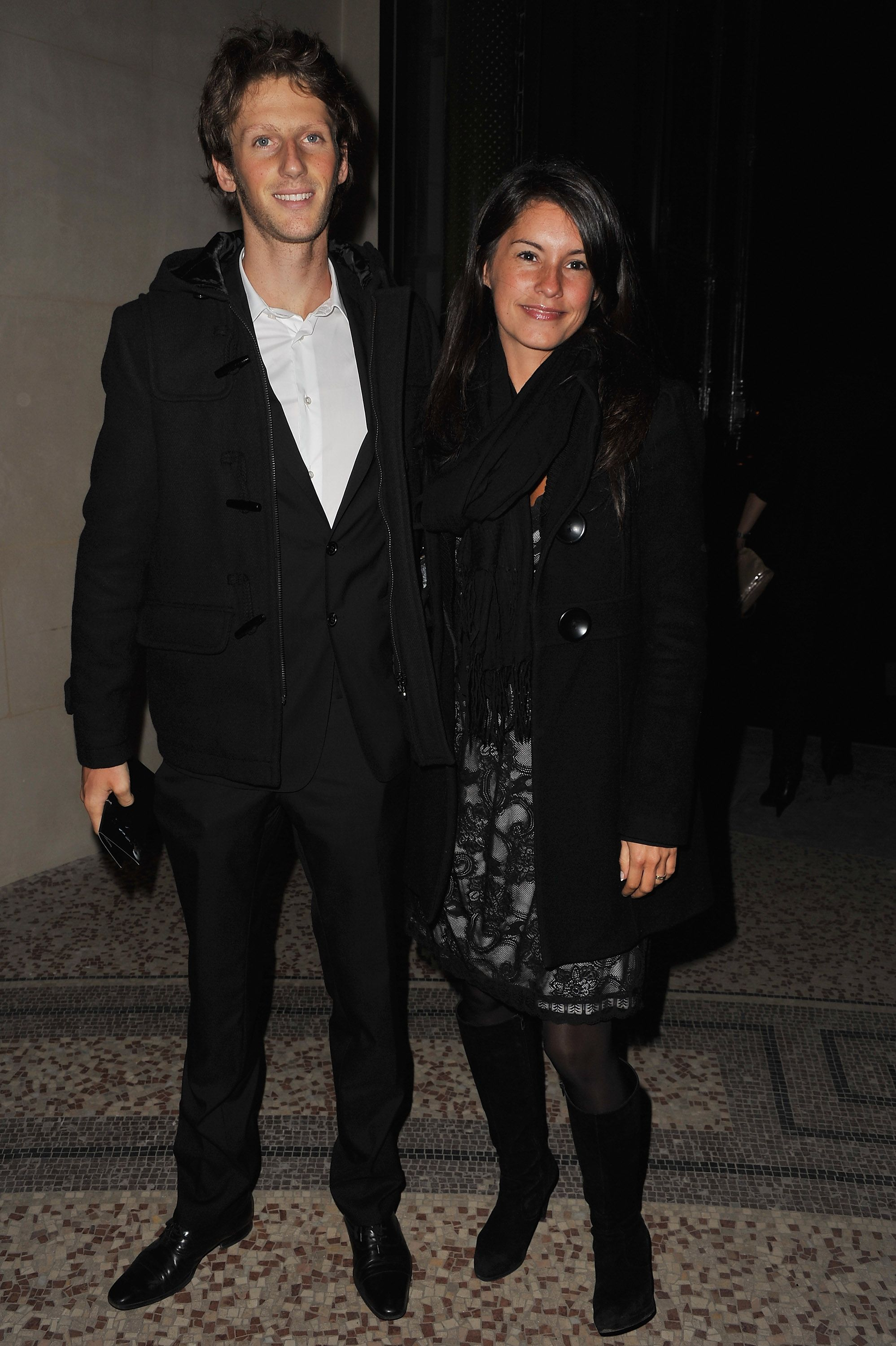 Romain Grosjean and Marion Jolles at the Pirelli Calendar launch on January 13, 2011, in Paris, France | Photo: Getty Images