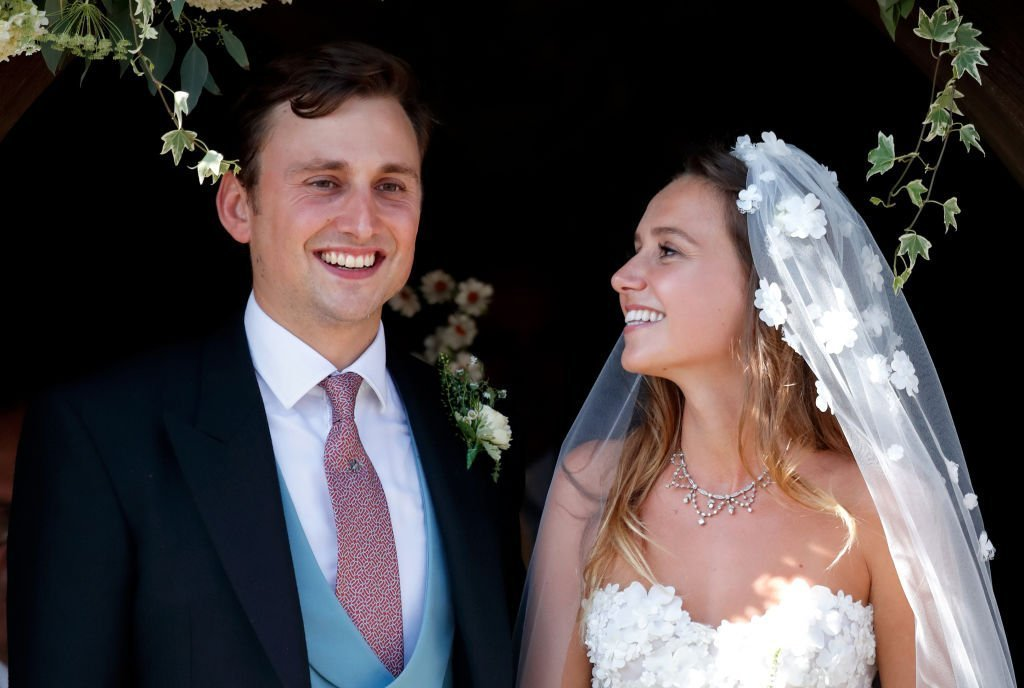 Charlie van Straubenzee and Daisy Jenks leave the church of St Mary the Virgin after their wedding on August 4, 2018 | Photo: GettyImages
